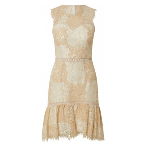 Laona Kokteilové šaty  béžová / biela