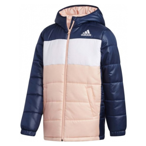 adidas YK J SYNTHETIC ružová - Juniorská zimná bunda