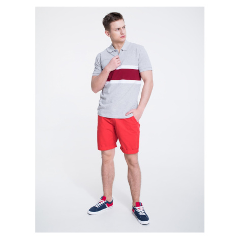Big Star Man's Shortsleeve Polo T-shirt 154565 Burgundy-604