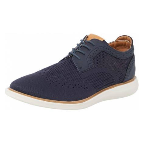 Dune LONDON Šnurovacie topánky 'BARBED'  námornícka modrá / svetlohnedá