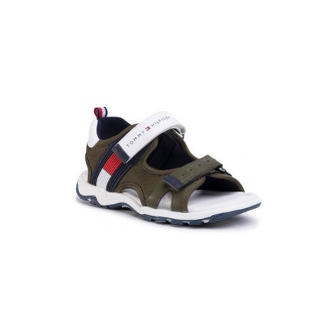 TOMMY HILFIGER Sandále Velcro Sandal T3B2-30740-0937 M Zelená