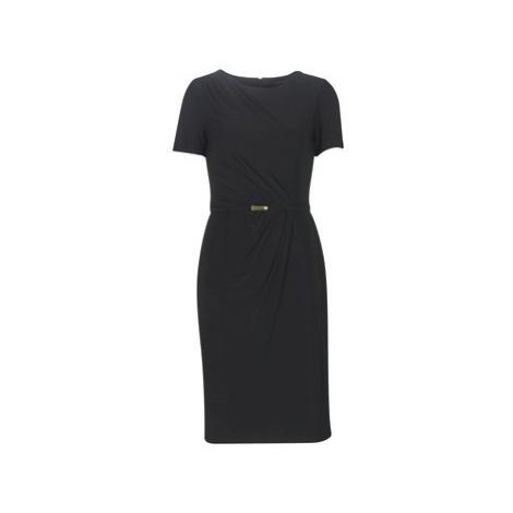 Lauren Ralph Lauren BELTED SHORT SLEEVE DRESS Čierna