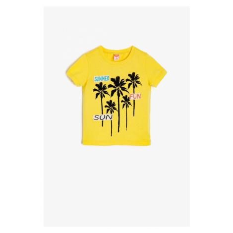 Koton Yellow Baby Boy Embroidered T-Shirt