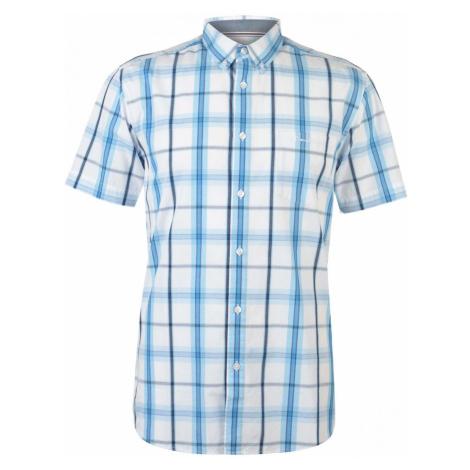 Pierre Cardin Short Sleeve Check Button Shirt Mens