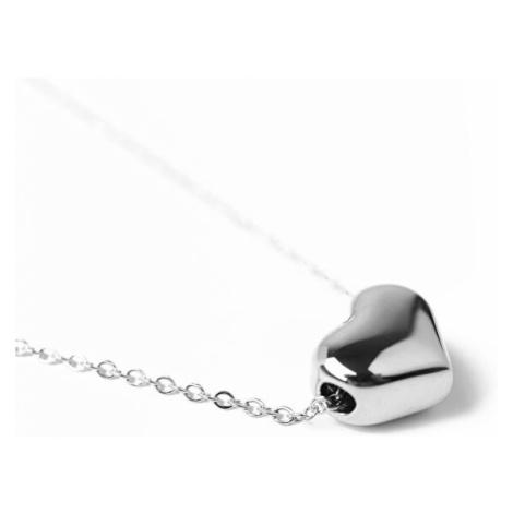 Vuch Nežný náhrdelník so srdiečkom Deep Love Silver
