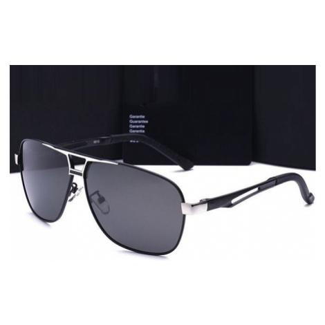 Polarizačné slnečné okuliare pilotky Luxury - strieborné čie