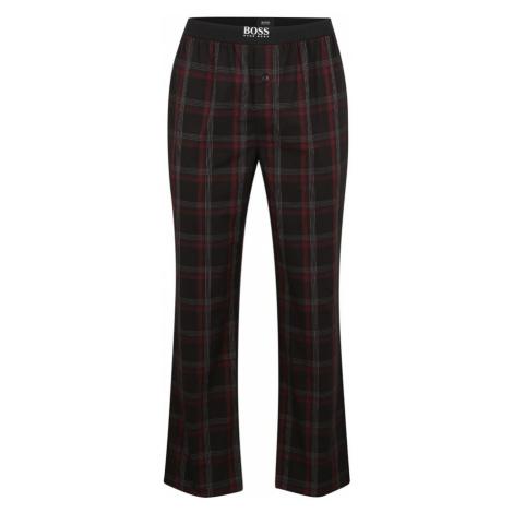 BOSS Pyžamové nohavice  čierna / bordová / biela Hugo Boss