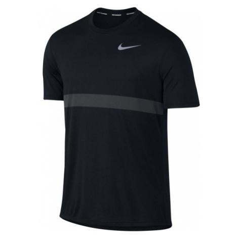 Nike RELAY TOP SS čierna - Pánske bežecké tričko