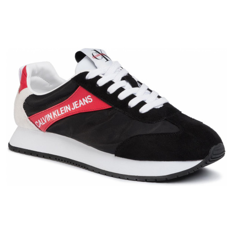 Sneakersy CALVIN KLEIN JEANS - Jerrold S0615 Black/Racing Red