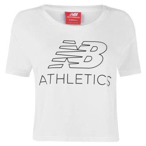 New Balance Crop T Shirt Ladies