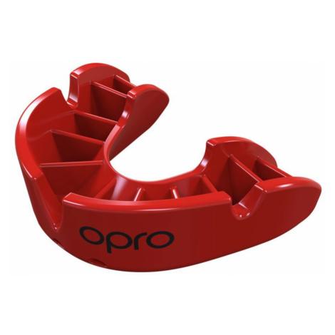 Chránič zubov OPRO Bronze senior - červený