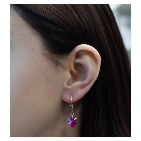 Sada šperkov s krištálmi Swarovski náušnice a prívesok ružové srdce 79038.3