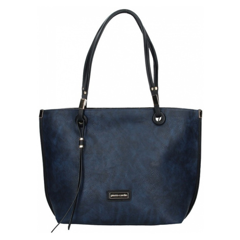 Dámska obojstranná kabelka Pierre Cardin Apolena - modro-šedá