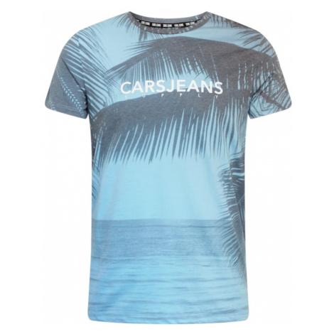 Cars Jeans Tričko 'SIAD'  svetlomodrá / modrosivá / biela