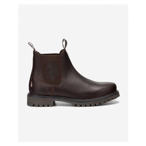 U.S. Polo Assn Alton Leather Členková obuv Hnedá