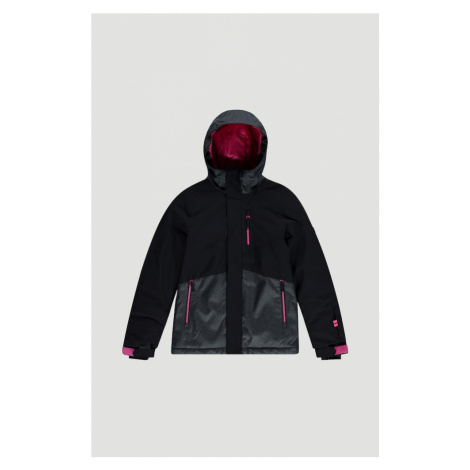 O'NEILL Outdoorová bunda 'Snow Coral Ski'  čierna / sivá / ružová