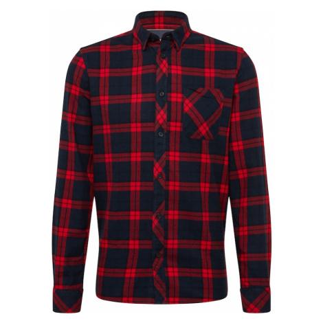 !Solid Košeľa  červená / tmavomodrá