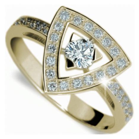 Danfil Luxusný zlatý prsteň s diamantmi DF1970z mm