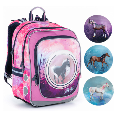Taška s koníkom pre najmenšie školáčky Topgal ENDY 21005 G