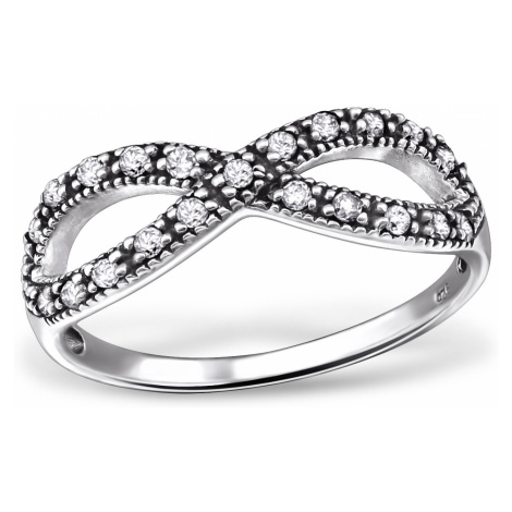 OLIVIE Strieborný prsteň NEKONEČNO 0229