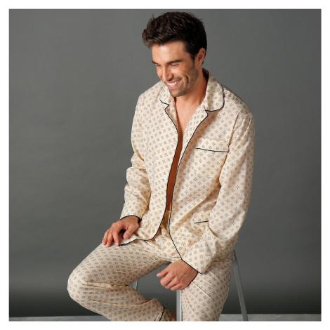 Blancheporte Klasické pyžamo s potlačou béžová