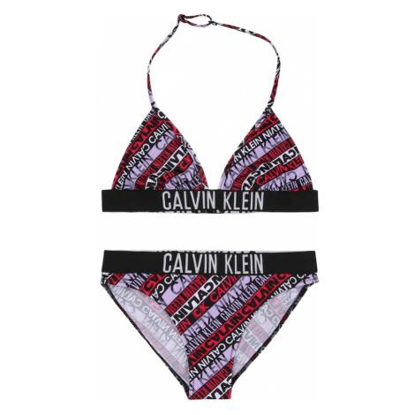 Calvin Klein Swimwear Bikiny  čierna / biela / svetlofialová / ohnivo červená