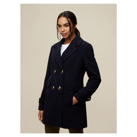 Tmavomodrý zimný kabát Dorothy Perkins