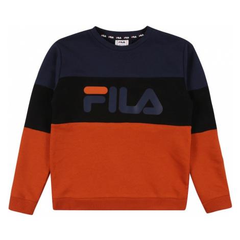 FILA Mikina 'WILLY'  čierna / oranžová / tmavomodrá