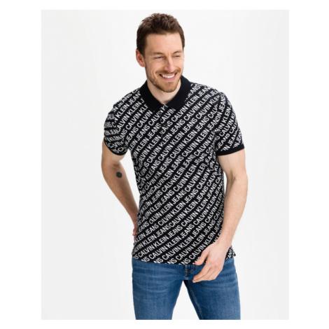 Calvin Klein Diagonal Logo Polo tričko Čierna