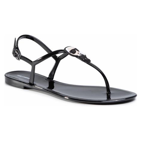 Sandále KARL LAGERFELD - KL80086  Black Rubber