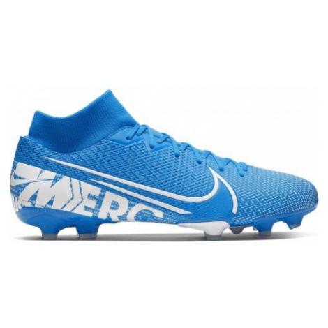 Nike MERCURIAL SUPERFLY 7 ACADEMY FG/MG modrá - Pánske kopačky