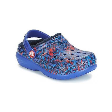 Crocs CLASSIC LINED GRAPHIC CLOG K Modrá