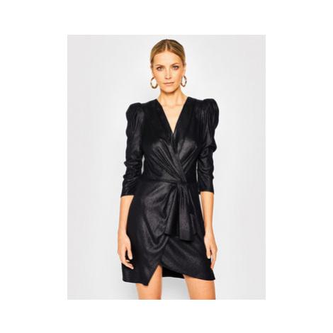 Elisabetta Franchi Koktejlové šaty AB-131-02E2-V399 Čierna Slim Fit
