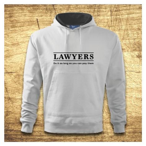 Mikina s kapucňou s motívom Lawyers
