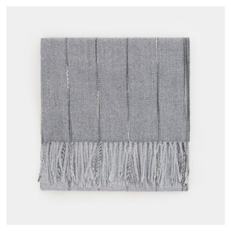 Mohito - Vzorovaný šál so strapcami - Šedá