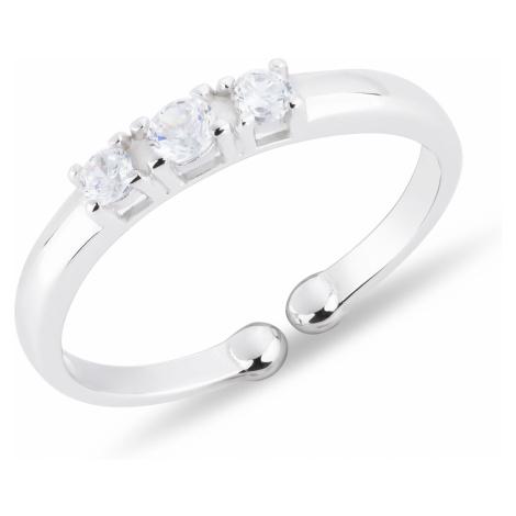 OLIVIE Detský prsteň 3 ZIRKÓNY nastaviteľný 4716