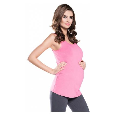 Tehotenský top Eveline ružový Italian Fashion