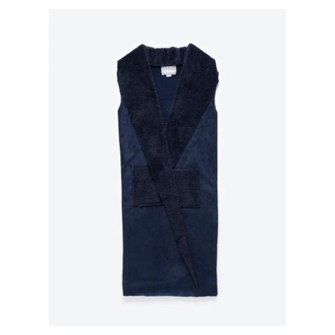 GATE Dlhá kombinovaná vesta s plyšovou podšívkou