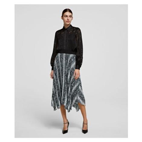 Sukňa Karl Lagerfeld Snake Printed Pleated Skirt