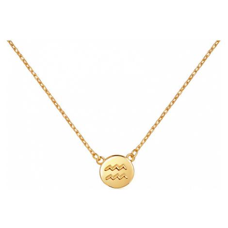 JVD Pozlátený náhrdelník s príveskom Vodnár SVLN0165XF3GOVO