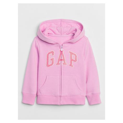 GAP ružové dievčenská mikina