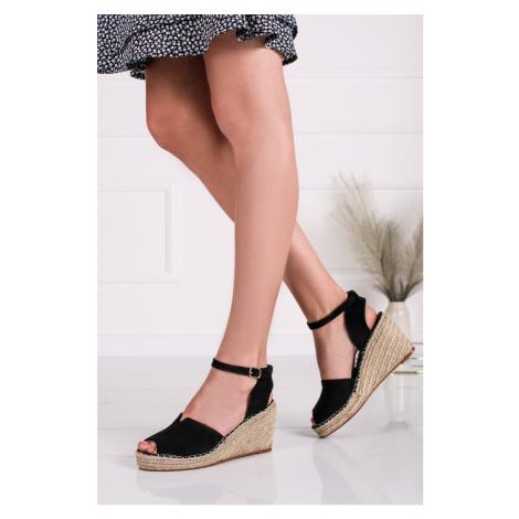 Čierne semišové platformové sandále Sandy Vices
