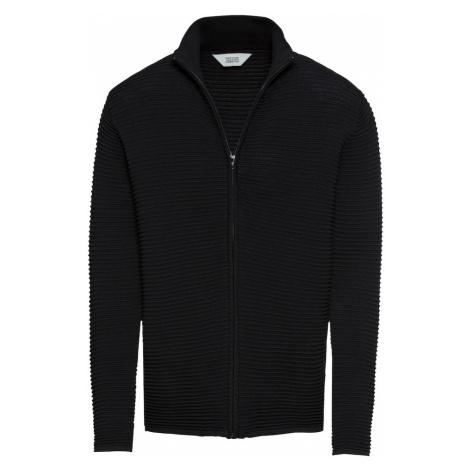 !Solid Sveter 'Knit - Struan Zip'  čierna