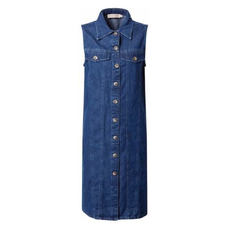 PIECES Košeľové šaty 'MALLE'  modrá denim