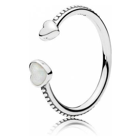 Pandora Otvorený srdiečkový prsteň 191045EN23 mm