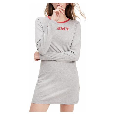Tommy Hilfiger sivé domáce šaty Nightdress LS s dlhým rukávom