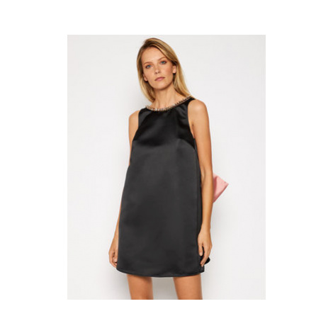 Elisabetta Franchi Koktejlové šaty AB-025-06E2-V449 Čierna Regular Fit