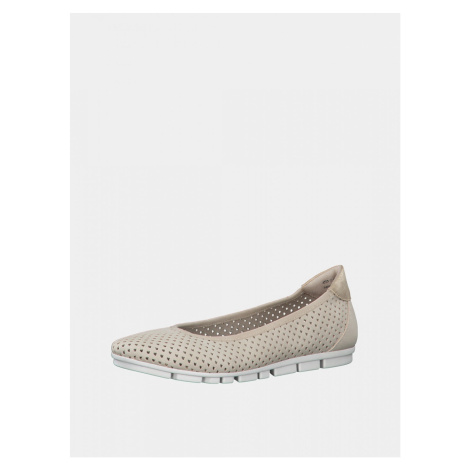 Beige perforated ballerinas s.Oliver
