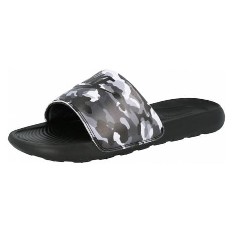 Nike Sportswear Plážové / kúpacie topánky 'Victori One'  čierna / biela / sivá / tmavosivá