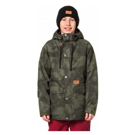 Horsefeathers LANC KIDS JACKET tmavo zelená - Chlapčenská lyžiarska/snowboardová bunda